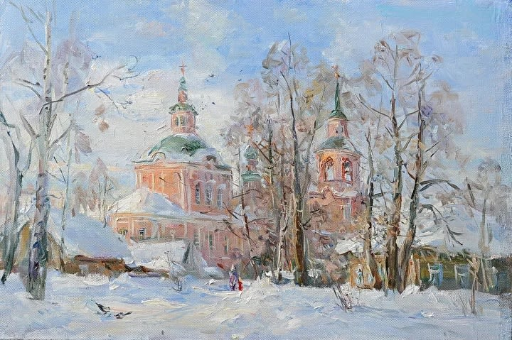 Широков Андрей Михайлович . Церковь Симеона Столпника. 2019г.  90х60. Холст, масло.