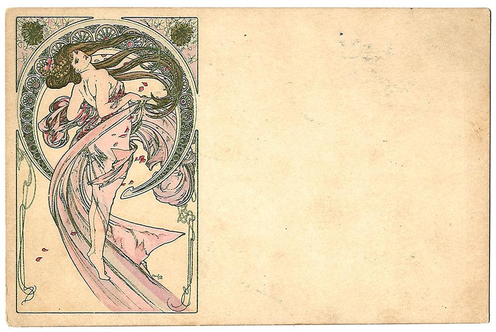 Души душевно, открытка альфонс