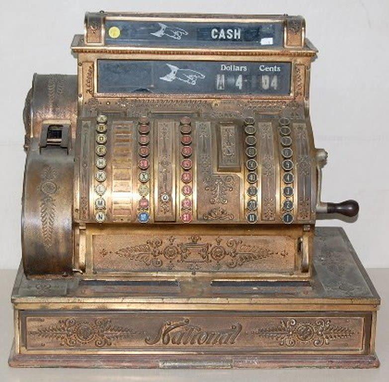 аукцион Bidspirit кассовый аппарат механический National 2