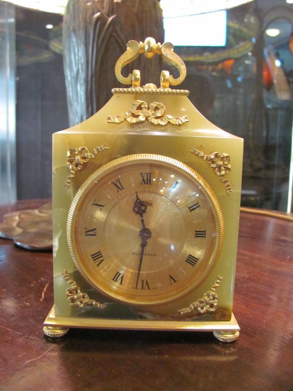 Bidspirit Claudios Bucherer Clock Set With Gem
