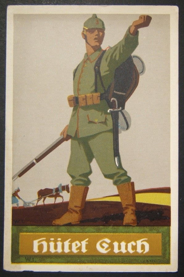 Bidspirit auction | German WWI illustrated color propaganda