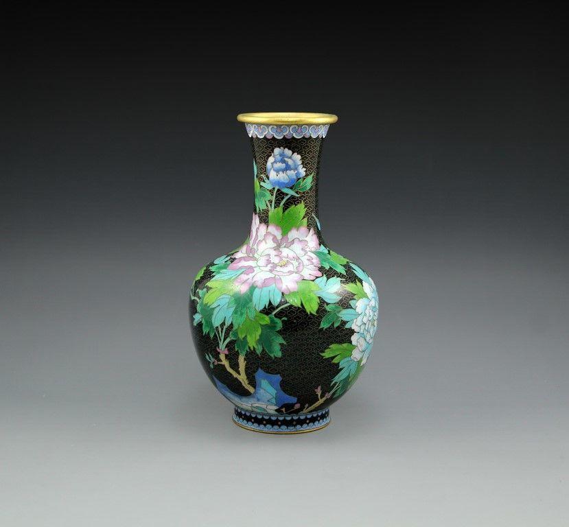 Bidspirit Ishtar Chinese Cloisonn Vase