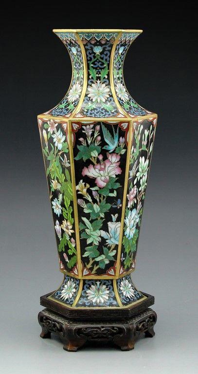 Bidspirit Ishtar Fine Chinese Cloisonn Vase