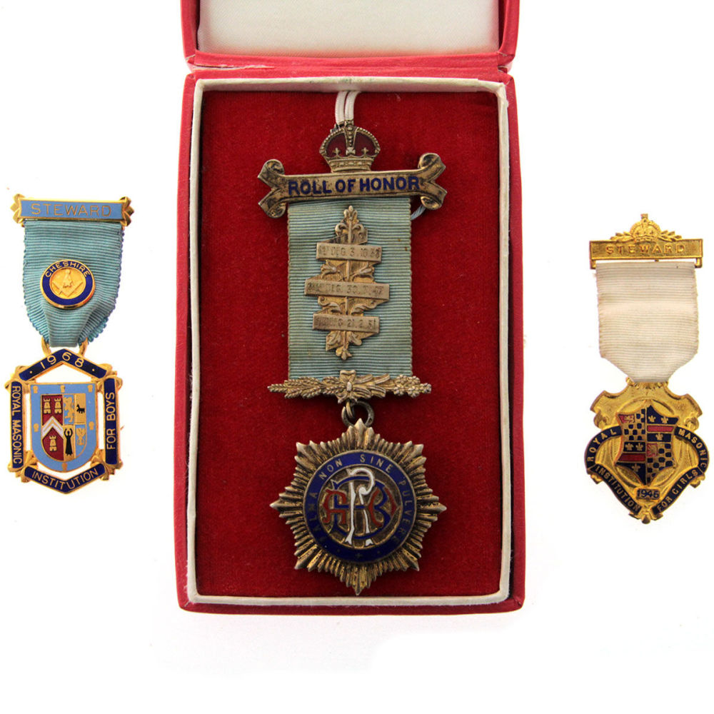 Bidspirit auction | Three Masonic Medals