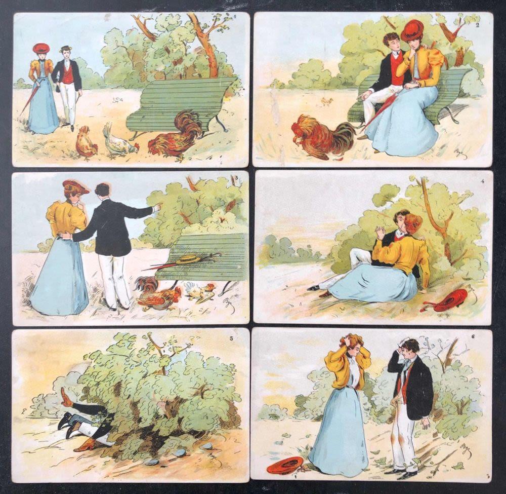 набор старинных открыток что