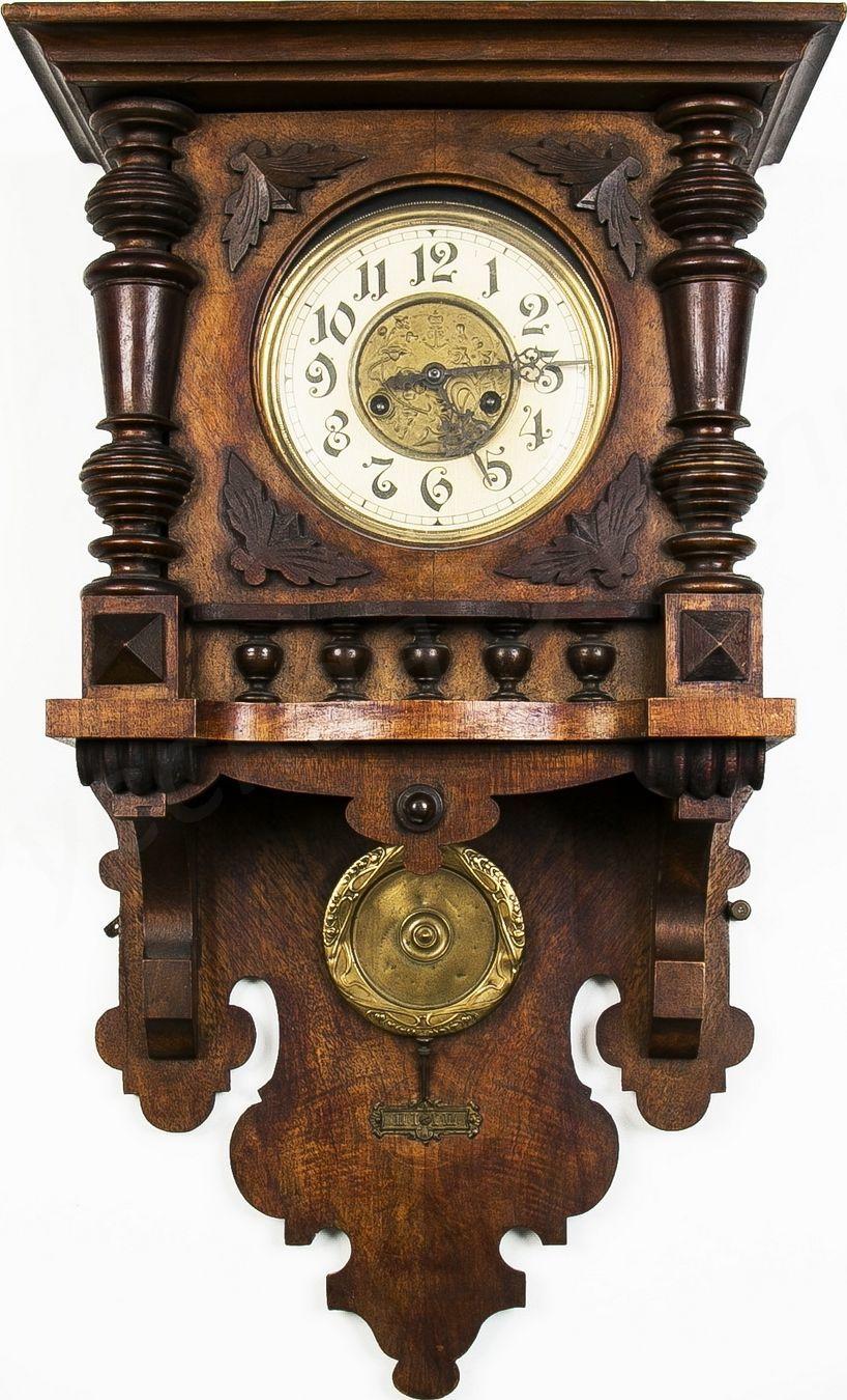 Старинные настенные часы густава беккера