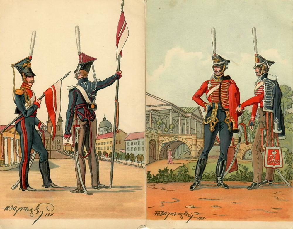 Открытки, французская армия в 1812 открытки