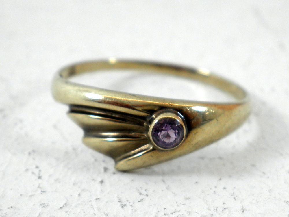 8k Gold Ring With Amethys Bidspirit
