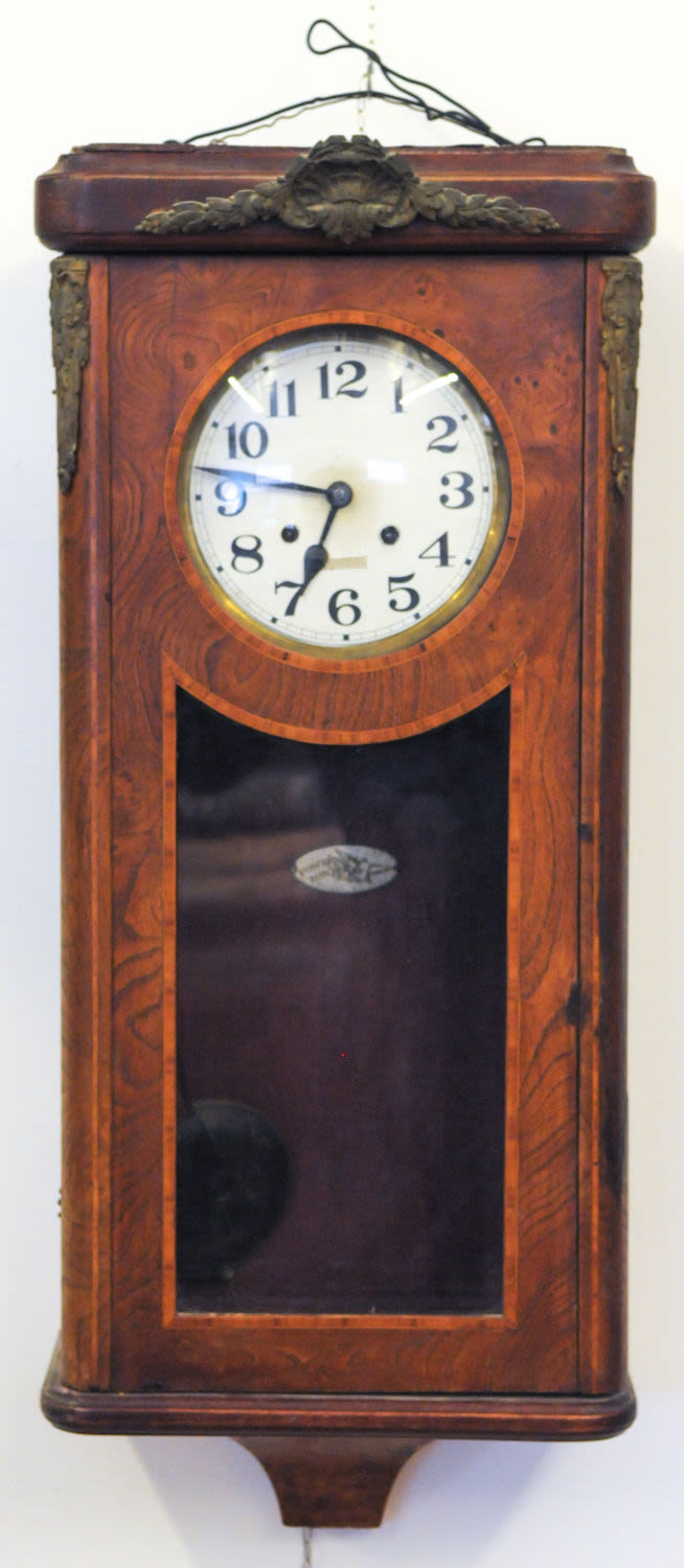 Antique French Wall Mounted Pendulum Clock