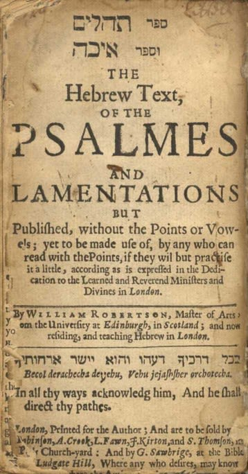 Bidspirit auction   Psalms and Lamentations  1656, First